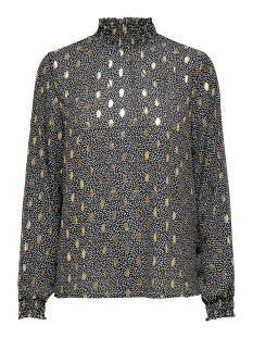 onluna l/s smock top wvn 15204926 only blouse black/w. dots an