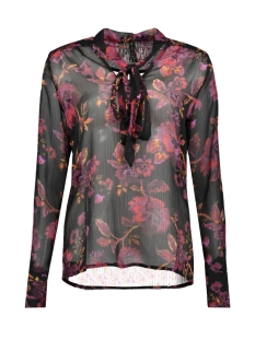 NED Blouse NED19W2 BB108 02 TULA LS ROSES PURPLE