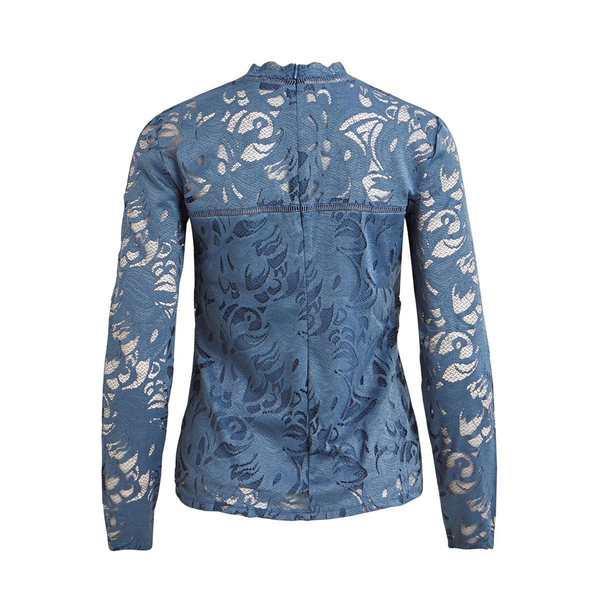 vistasia l/s lace top-fav 14044847 vila blouse china blue