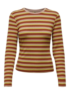 onlneon l/s top jrs 15193421 only t-shirt ginger bread/pale gold