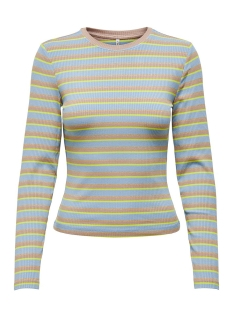 onlneon l/s top jrs 15193421 only t-shirt ashley blue/pale gold