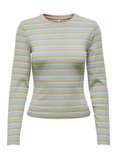 Only T-shirt ONLNEON L/S TOP JRS 15193421 Ashley Blue/PALE GOLD