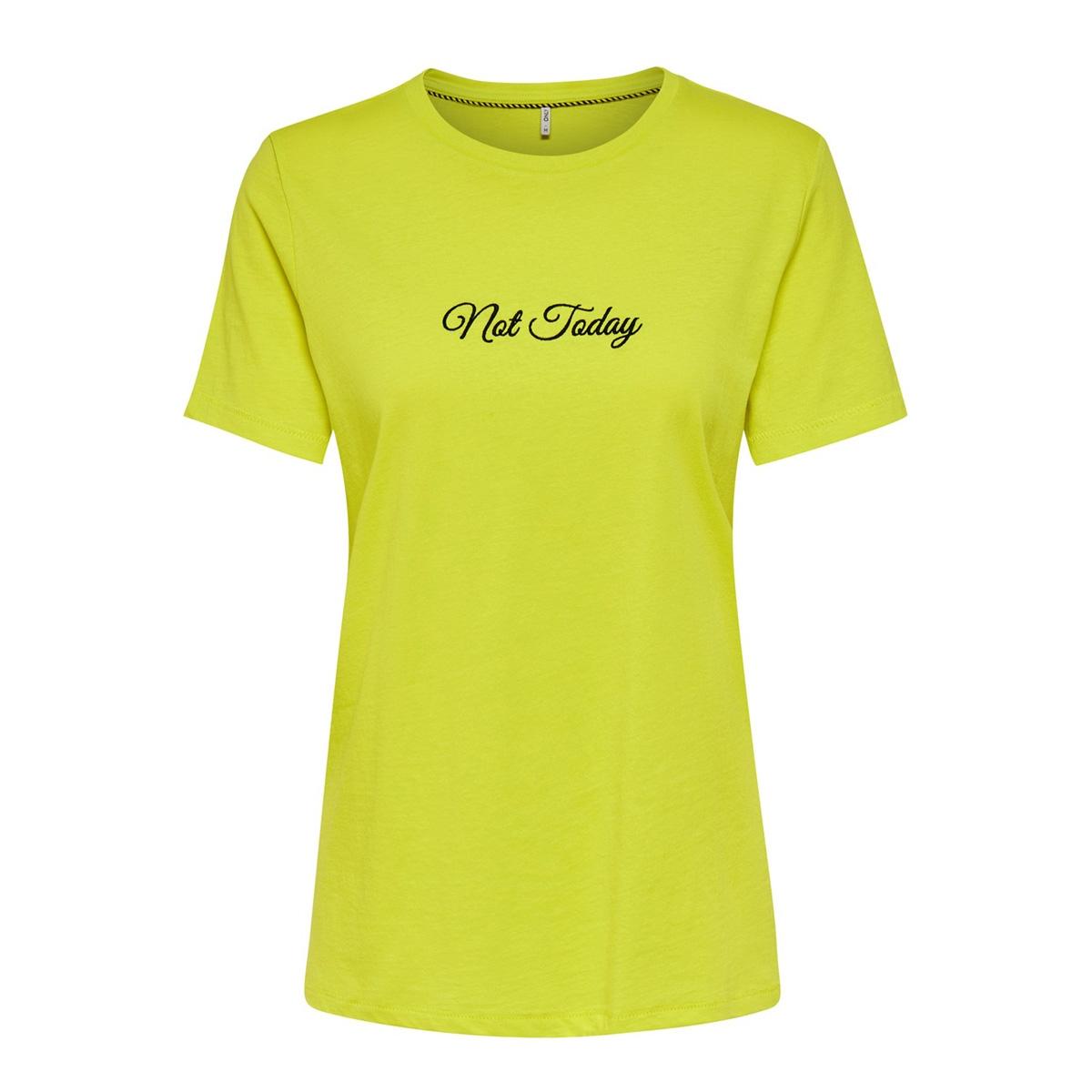 onlvinni reg s/s text top box co jr 15195773 only t-shirt limeade/not today