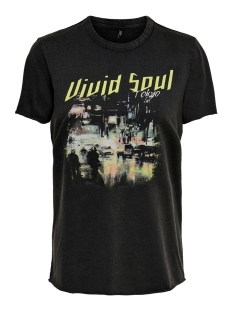 onllucy reg s/s city top box acid c 15195431 only t-shirt black/tokyo