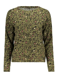 Only Trui ONLLEA L/S TOP JRS 15193156 Martini Olive/COOL LEO 2