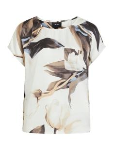 Object T-shirt OBJPANIA URBAN S/S TOP PB7 23032300 Gardenia/GARDENIA TULIP