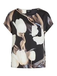 Object T-shirt OBJPANIA URBAN S/S TOP PB7 23032300 Black/BLACK TULIP