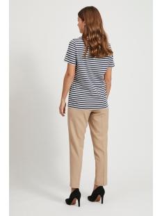 visus o-neck s/s t-shirt/su -noos 14054437 vila t-shirt navy blazer/optical sn