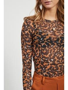 objulla l/s top a q 23033625 object t-shirt sugar almond/abstract