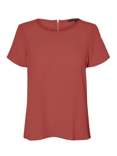 Vero Moda T-shirt VMSASHA SS ZIP TOP COLOR 10225336 Marsala