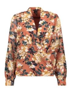 vmwilma ls wrap top wvn 10222074 vero moda blouse mahogany/wilma print