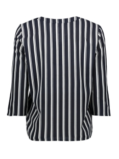vmsasha 3/4 button top ga 10226529 vero moda blouse navy blazer/snow white