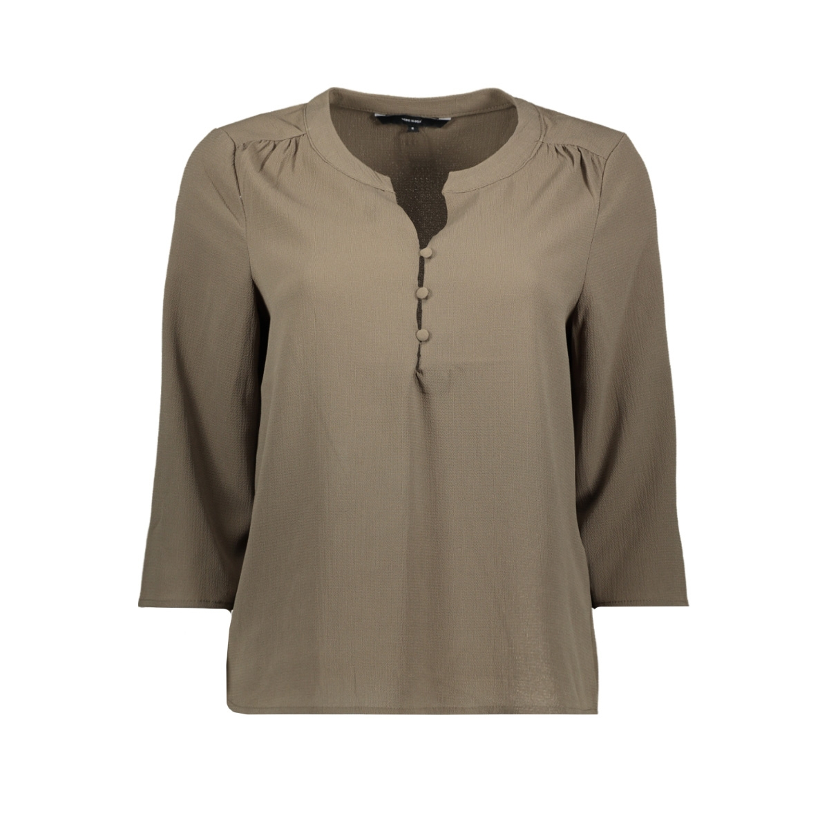 vmsasha 3/4 button top ga 10226529 vero moda t-shirt bungee cord