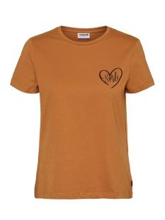 Noisy may T-shirt NMNATE S/S  TOP BG 27010229 Brown Sugar/PRINT AT F
