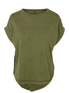 Noisy may T-shirt NMVALERIA S/S WASHED TOP  6 27008574 Winter Moss/WASHED. WITH