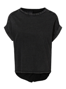Noisy may T-shirt NMVALERIA S/S WASHED TOP  6 27008574 Black/WASHED. WITH