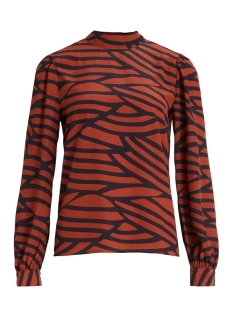 Vila Blouse VIMULLAN L/S TOP /RX 14059342 Black/STRIPES