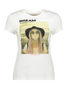 Only T-shirt ONLVALENTINA LIFE FIT S/S PHO TOP C 15203380 Cloud Dancer/DREAM