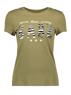 onlanni life fit s/s animal top box 15199827 only t-shirt martini olive/babe