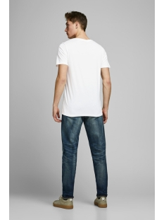 jjelogo tee ss o-neck 2 col ss20 noos 12164848 jack & jones t-shirt cloud dancer/slim