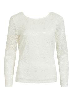 Vila T-shirt VIKAISA L/S V-NECK LACE TOP/KA 14057880 Cloud Dancer
