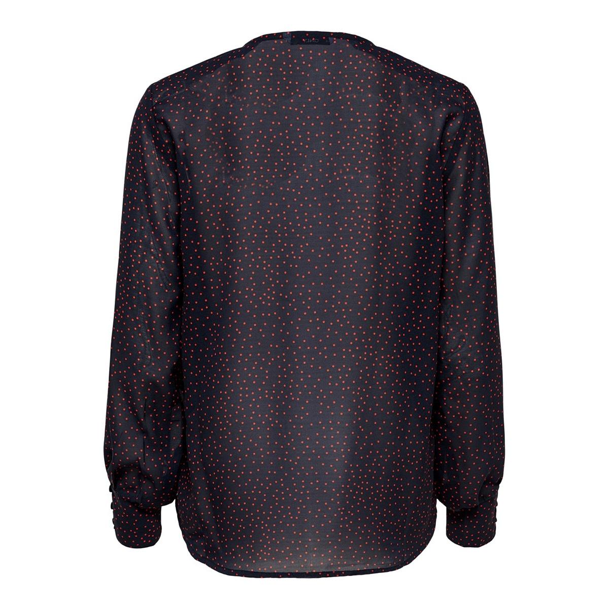 onlbeatrice life l/s v-neck top wvn 15196249 only blouse night sky/high risk