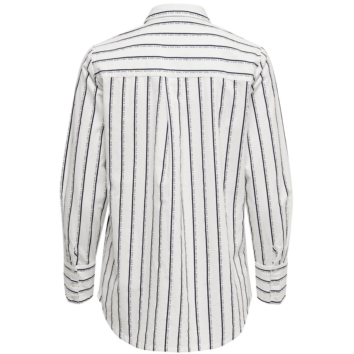 onlmarian l/s shirt wvn 15197204 only blouse cloud dancer/black
