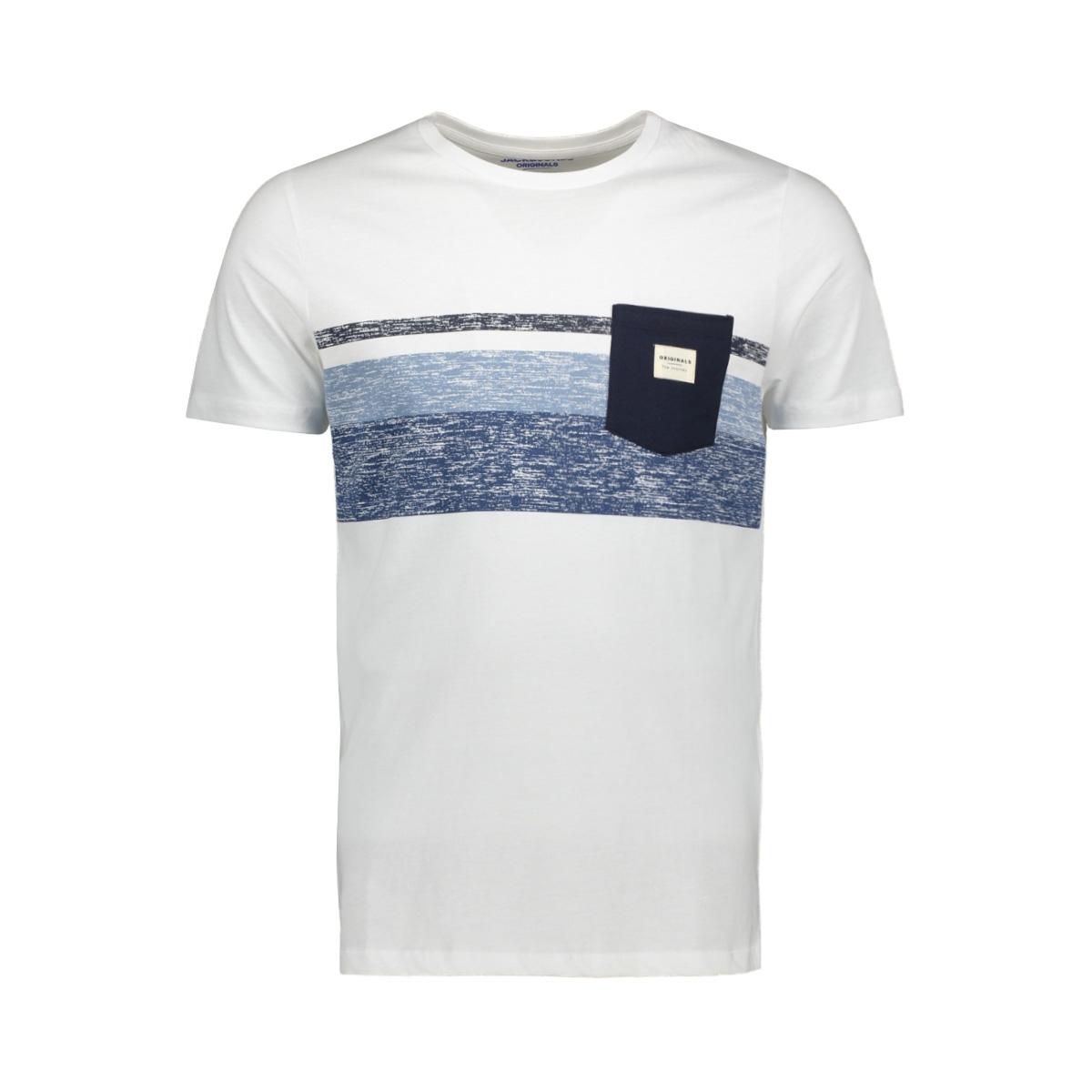 jorlangley tee ss crew neck 12164449 jack & jones t-shirt white/slim