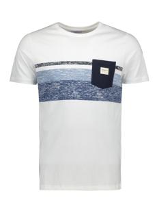 Jack & Jones T-shirt JORLANGLEY TEE SS CREW NECK 12164449 White/SLIM
