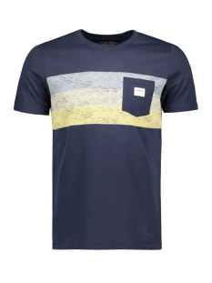 Jack & Jones T-shirt JORLANGLEY TEE SS CREW NECK 12164449 Navy Blazer/SLIM