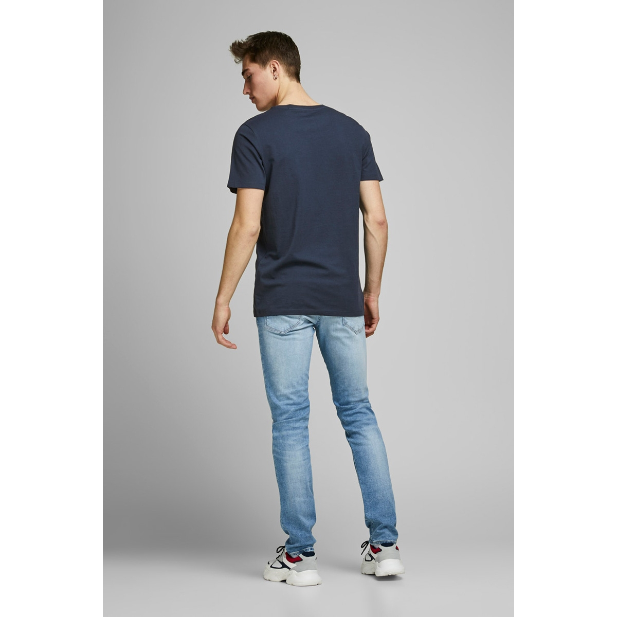 jjelogo tee ss o-neck 2 col ss20 no 12164848 jack & jones t-shirt navy blazer/slim