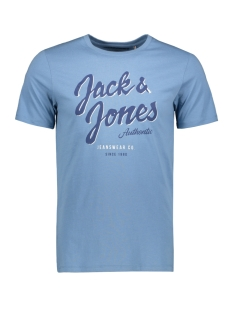 Jack & Jones T-shirt JJELOGO TEE SS O-NECK 2 COL SS20 NOOS 12164848 Blue Heaven/Slim