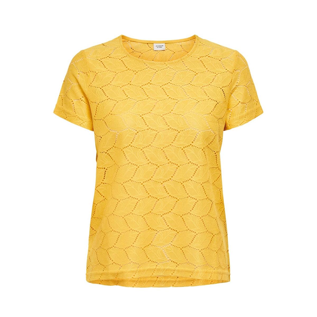 jdytag s/s lace top jrs rpt2 noos 15152331 jacqueline de yong t-shirt misted yellow