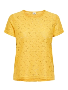 Jacqueline de Yong T-shirt JDYTAG S/S LACE TOP JRS RPT2 NOOS 15152331 Misted Yellow