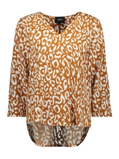Object Blouse OBJBAY 3/4 TOP AOP SEASONAL 23028469 Sugar Almond/WHITE