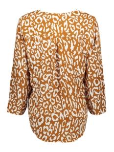objbay 3/4 top aop seasonal 23028469 object blouse sugar almond/white