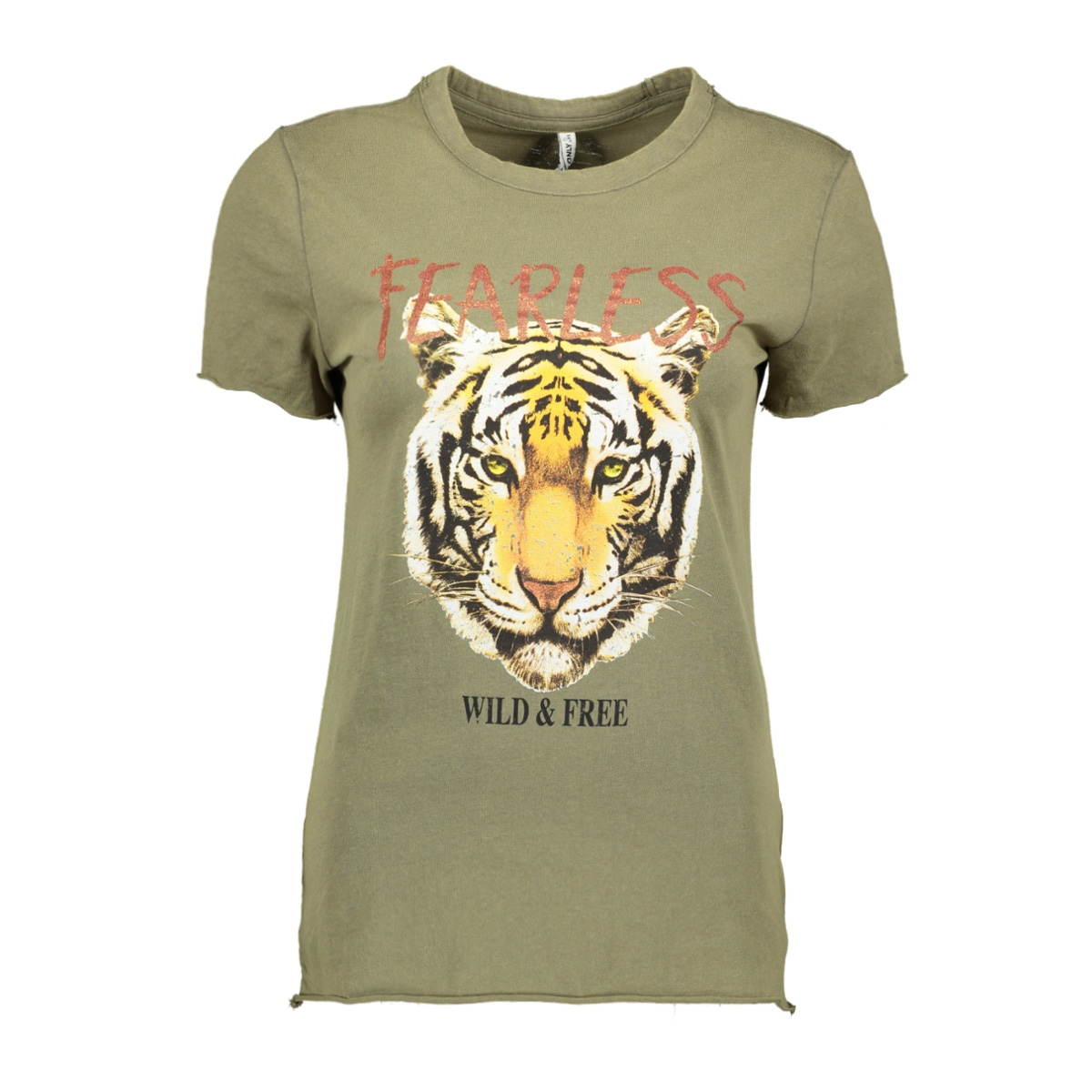 onllucy life fit s/s animal top cs 15213855 only t-shirt kalamata/fearless