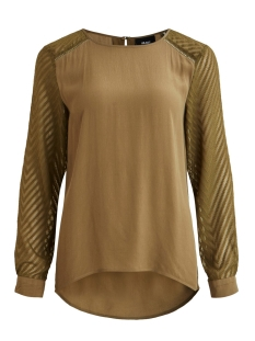 Object T-shirt OBJZOE L/S TOP SEASONAL 23028605 Burnt Olive