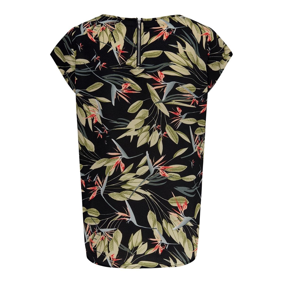 onlvic ss aop top noos wvn 15161116 only t-shirt black/black bota