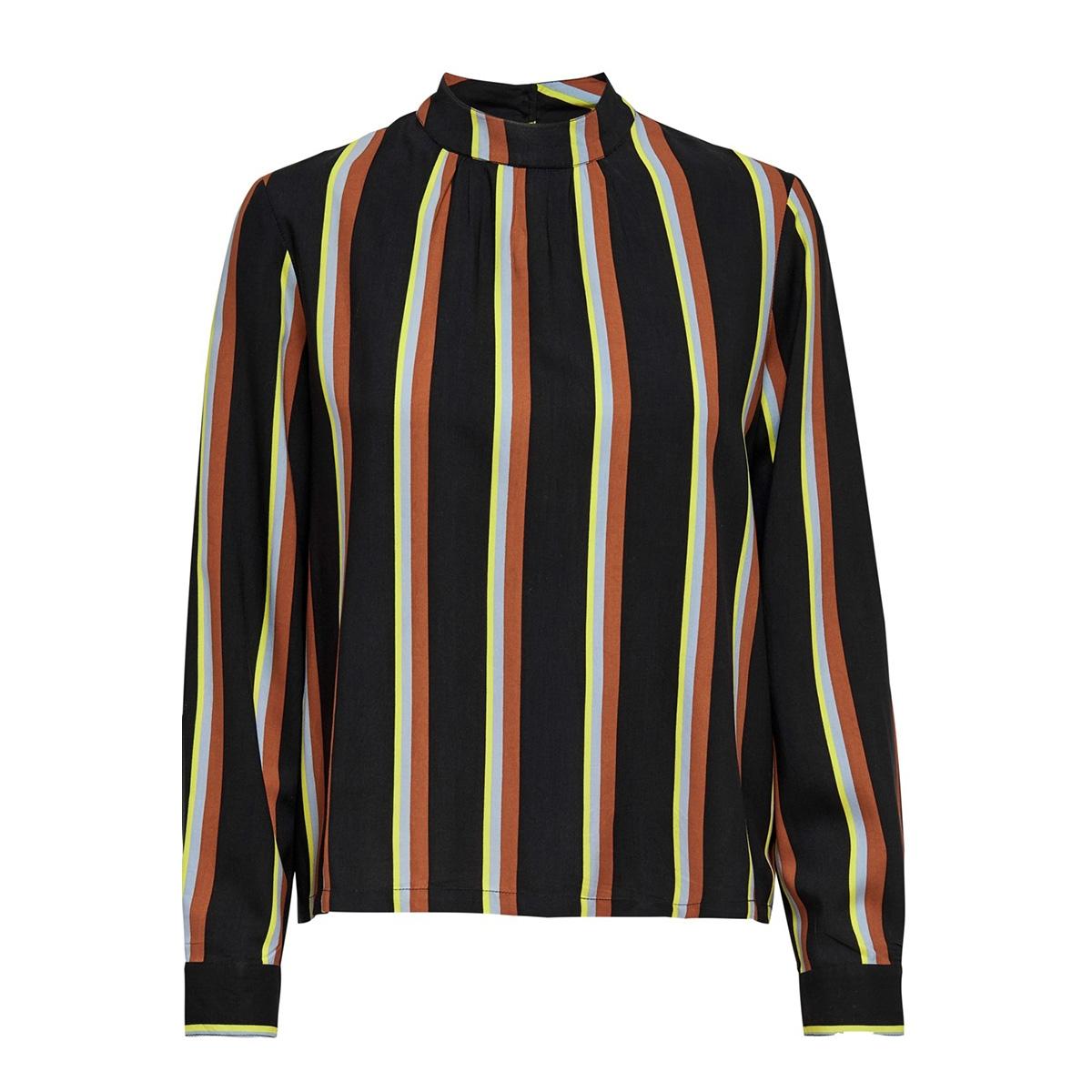onlmai l/s highneck top wvn 15201731 only t-shirt black