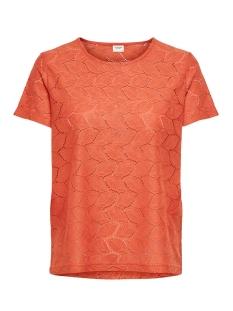 Jacqueline de Yong T-shirt JDYTAG S/S LACE TOP JRS RPT2 NOOS 15152331 Chilli