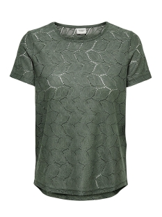Jacqueline de Yong T-shirt JDYTAG S/S LACE TOP JRS RPT2 NOOS 15152331 Castor Gray