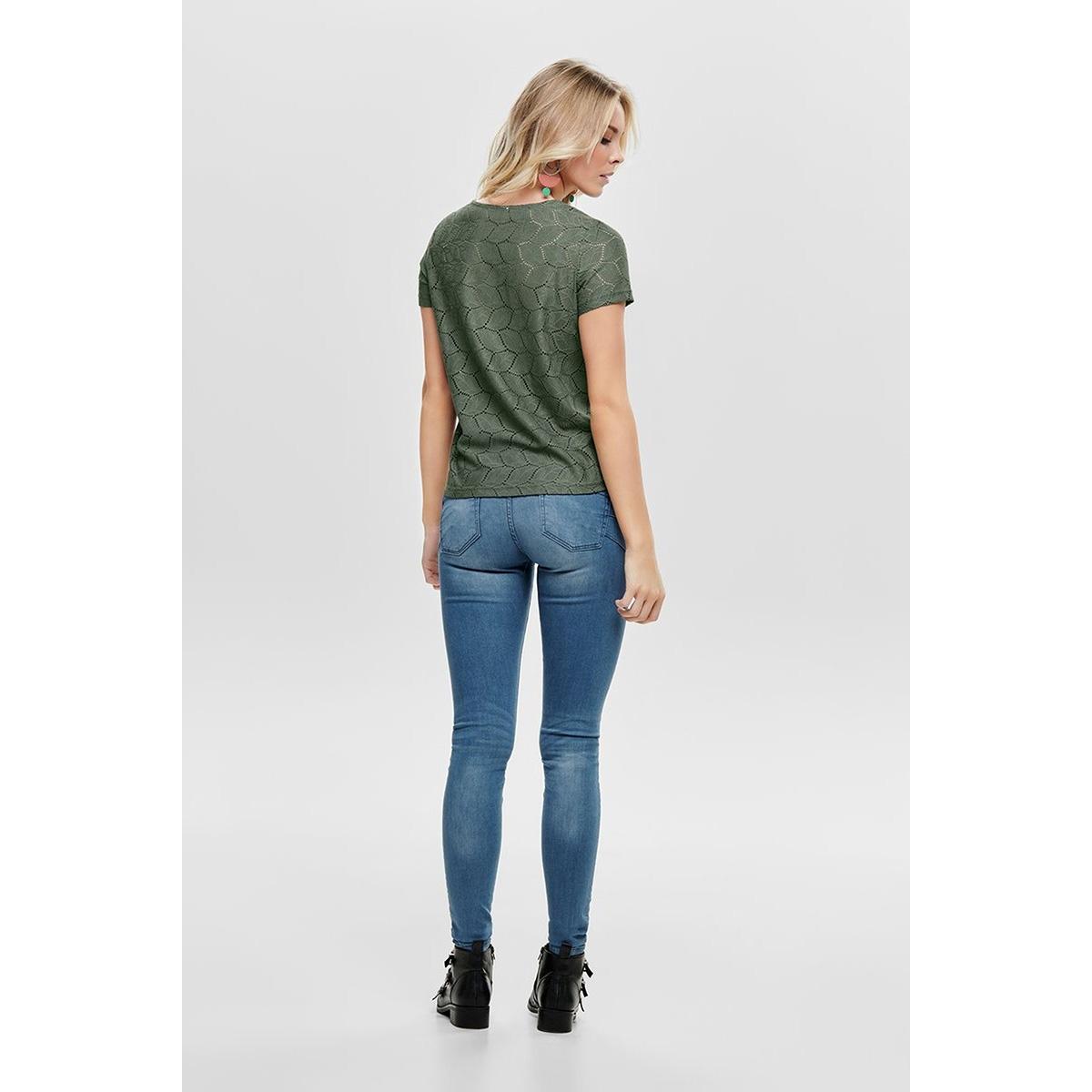 jdytag s/s lace top jrs rpt2 noos 15152331 jacqueline de yong t-shirt castor gray
