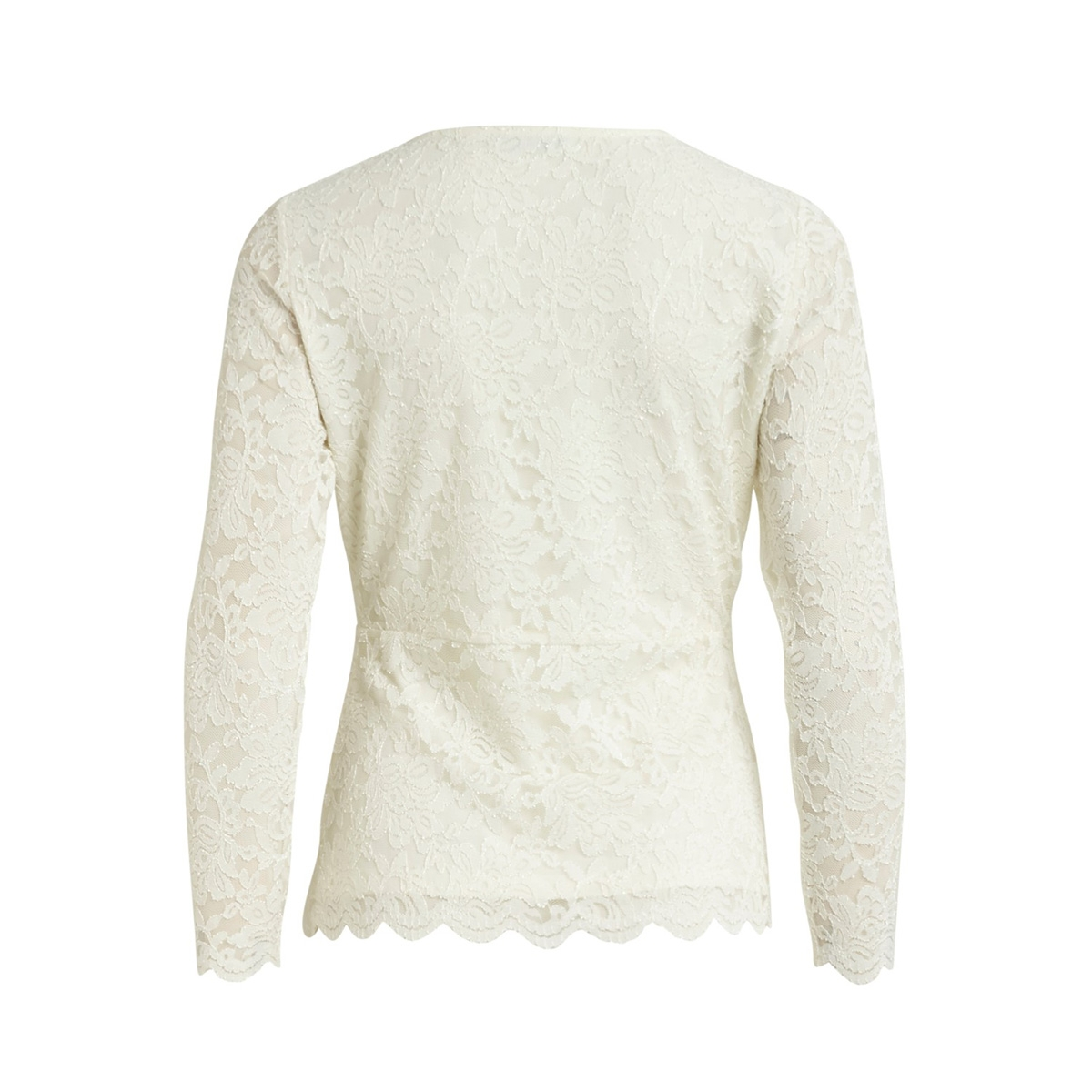 vikriva l/s sleeve top/l 14058842 vila vest cloud dancer