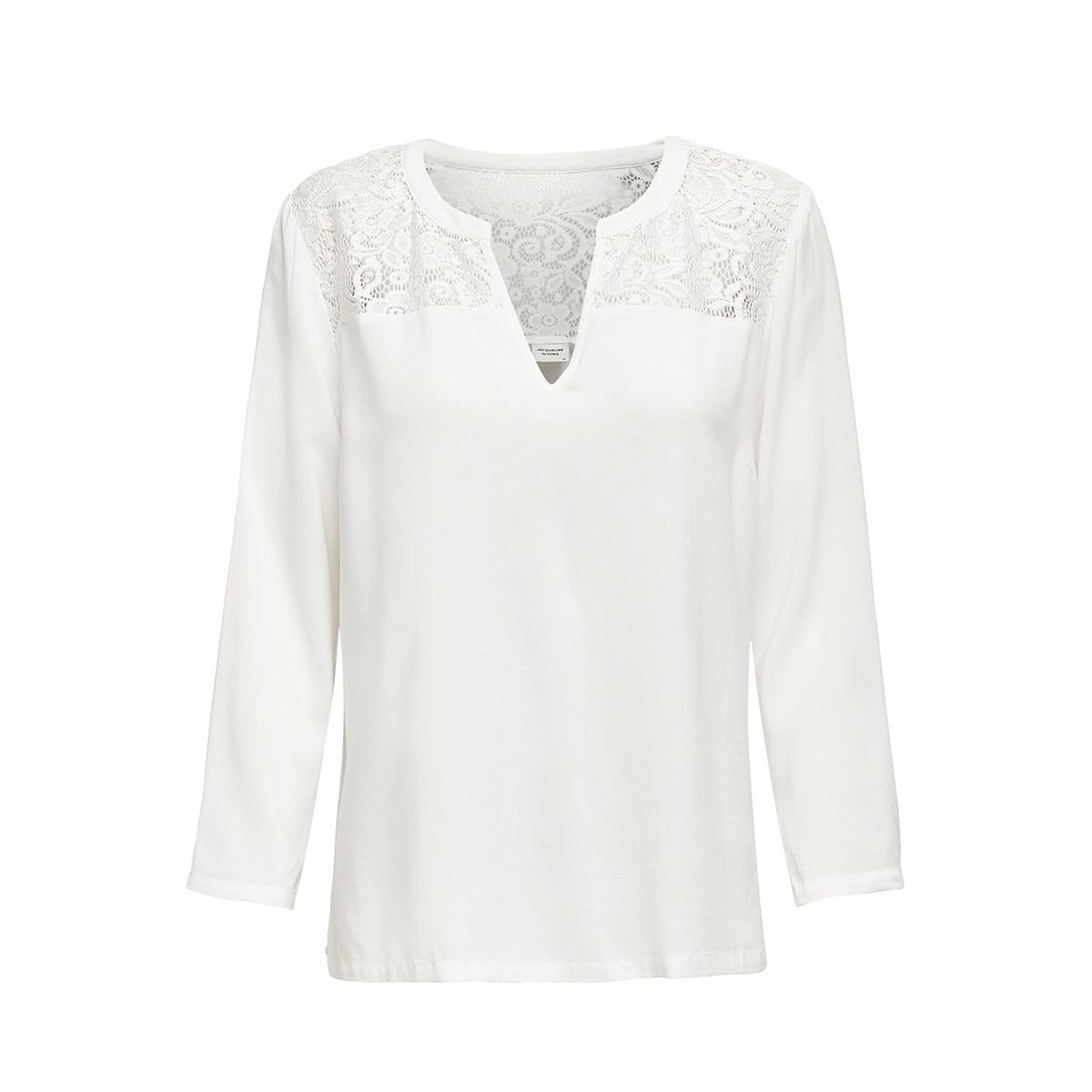 jdyraymond 7/8  lace top wvn noos 15194025 jacqueline de yong blouse cloud dancer