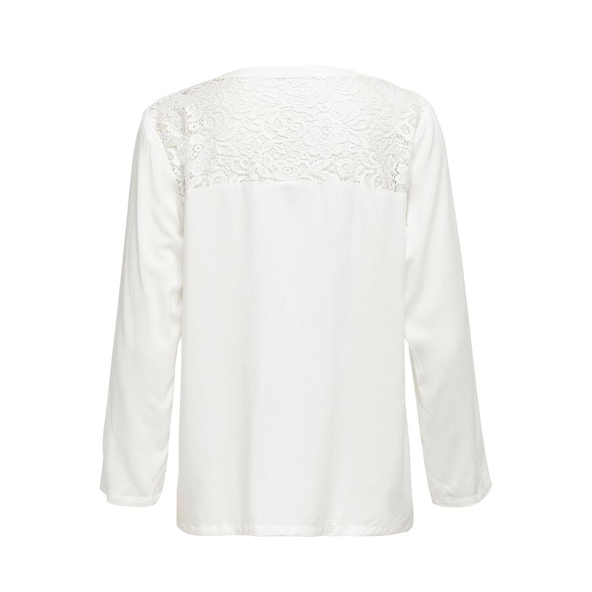 jdyraymond 7/8  lace top wvn noos 15194025 jacqueline de yong t-shirt cloud dancer