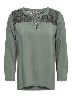 Jacqueline de Yong T-shirt JDYRAYMOND 7/8  LACE TOP WVN NOOS 15194025 Castor Gray