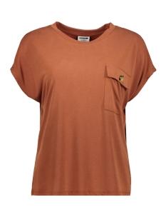 Noisy may T-shirt NMDENNY S/S POCKET  TOP 27011932 Burnt Henna