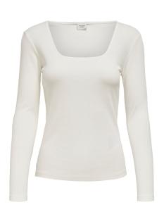 Jacqueline de Yong T-shirt JDYSMILLA L/S SQUARE NECK JRS 15196909 Cloud Dancer