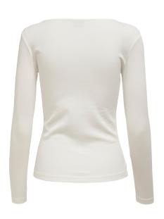 jdysmilla l/s square neck jrs 15196909 jacqueline de yong t-shirt cloud dancer